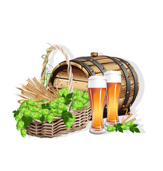 Beer still life vector