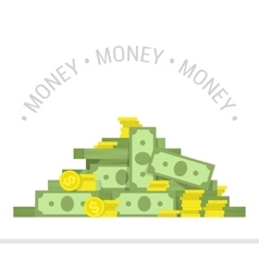 Big pile of money vector
