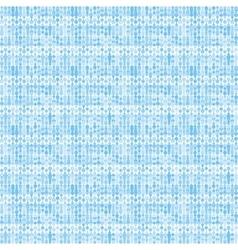 Bluish striped stylized knitting pattern vector