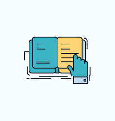 Book lesson study literature reading flat icon vector
