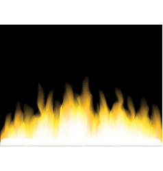 bright yellow fire vector image