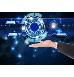 Businessman future web technology vector