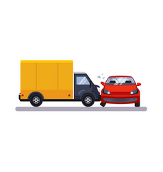 car and transportation issue with a lorry vector image