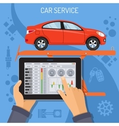 Car Service and Maintenance Concept vector