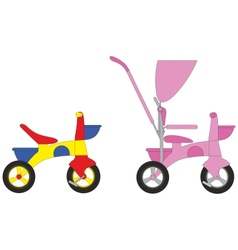 Children Bicycle set vector image