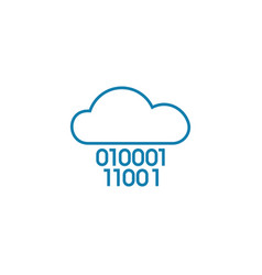 cloud system linear icon concept cloud system vector image