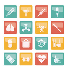 collection of medical themed icons vector image