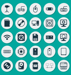 Computer icons set collection of control device vector