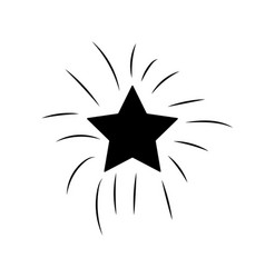 Contour shiny star in the sky art vector