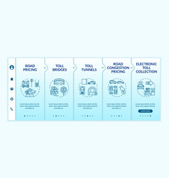 Controlled-access highway onboarding template vector