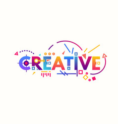 creative gradient letters vector image