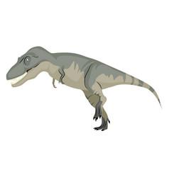 Daspletosaurus on white background vector