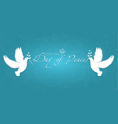 day of peace vector image