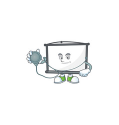 Doctor empty project screen on mascot vector