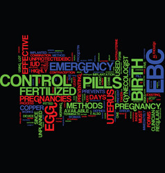 emergency birth control an overview text vector image
