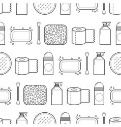 Feminine hygiene Seamless pattern with cosmetics vector
