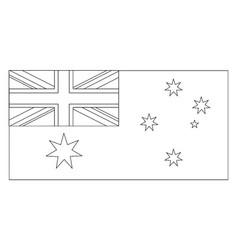 Flag of australia 2009 vintage vector
