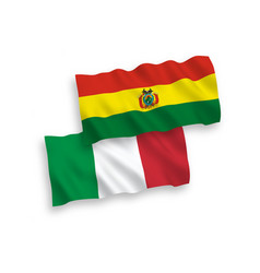 flags italy and bolivia on a white background vector image