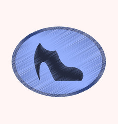 Flat shading style icon footwear women boot vector