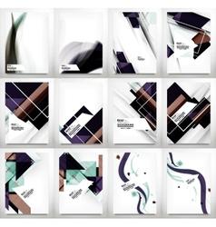 Flyers Brochure Design Template Set vector image
