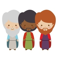 full body wise men carttoon vector image