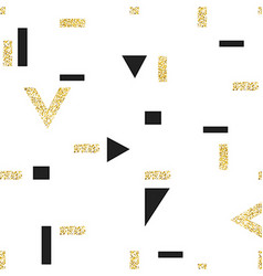 Gold geometric seamless pattern template for vector image