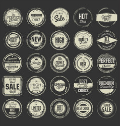 grunge rubber stamp premium quality collection 2 vector image
