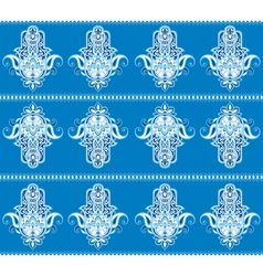 Hamsa hand pattern vector