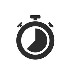 isolated stopwatch icon twenty five to on a white vector image
