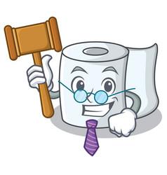 Judge tissue character cartoon style vector