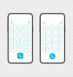 keypad on smartphone vector image