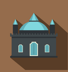 Kingdom palace icon flat style vector