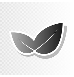 Leaf sign new year blackish vector