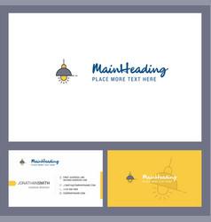 light logo design with tagline front and back vector image