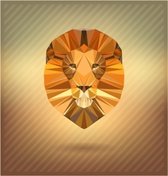Lion in the style of origami abstract vector