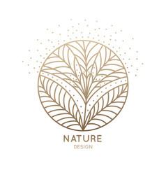 Logo blossom flower petals vector