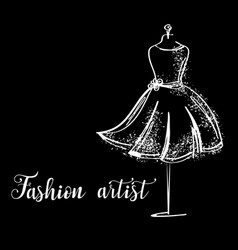 logo fashion studio custom handmade calligraphy vector image