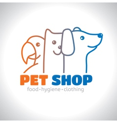 Logo pet vector image