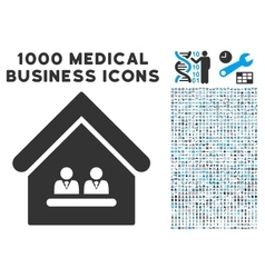 Management office icon with 1000 medical business vector