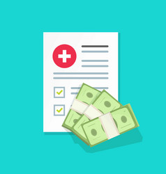 Medical document and money vector