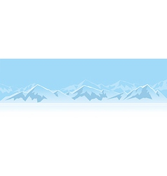 mountains in afternoon vector image