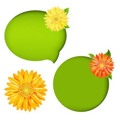 Nature Speech Bubbles vector