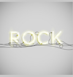 neon electric word type vector image