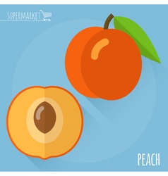 Peach icon vector image