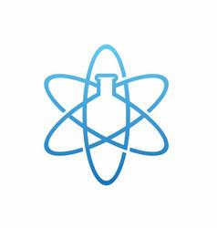Pharmacy lab logo design template vector