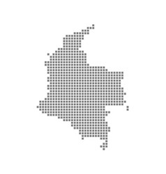 pixel map of colombia dotted map of colombia vector image