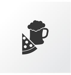 Pizza with beer icon symbol premium quality vector