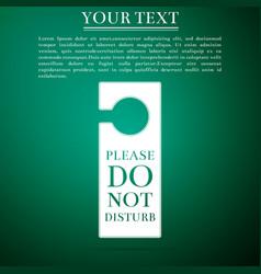 please do not disturb icon hotel door hanger tags vector image