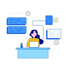 programmer and development vector image