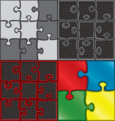 puzzle set vector image